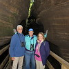 Walt, Susan and Jean on a trip through one of the slot canyons in the Wisconsin Dells.  The Dells were formed from a massive watrer outburst from a glacial lake.