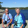 Dick and Susan by the shore of Devil's Lake, which was formed by terminal moraines at either end of a river valley.