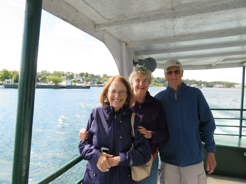 Jean, Susan and Walt on the ferry to Mackinac Island.
