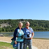 Susan and Dick by the shore of Devil's Lake near Baraboo, Wisconsin.  We used to meet here when Dick was teaching at Northwestern University and Susan was still in graduate school in Minneapolis.