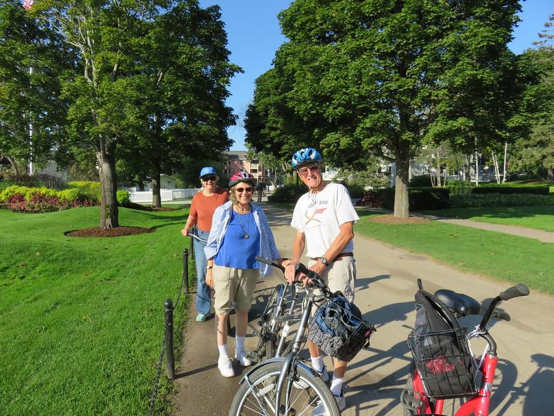Preparing for our bike ride around Mackinac Island