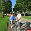 Preparing for our bike ride around Mackinac Island