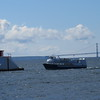Ferry coming in to Mackinac Island harbor