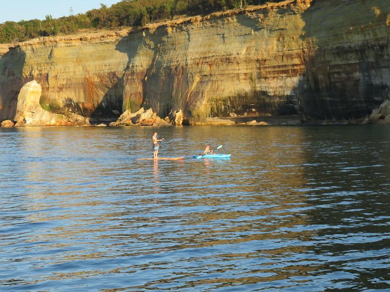 Paddleboarding and kayaking in Lake Superior in September