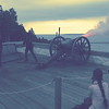 Firing the cannon at Fort Mackinac
