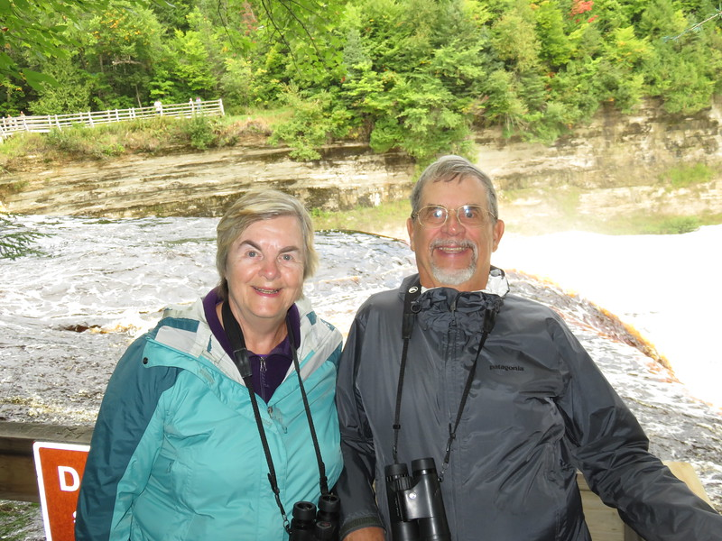 Susan and Dick at the Upper Falls.