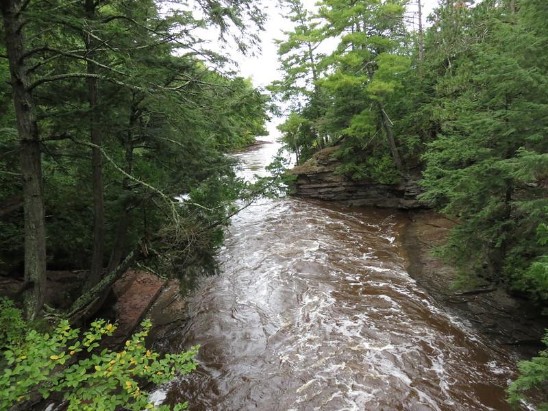 Presque Isle River entering Lake Superior.