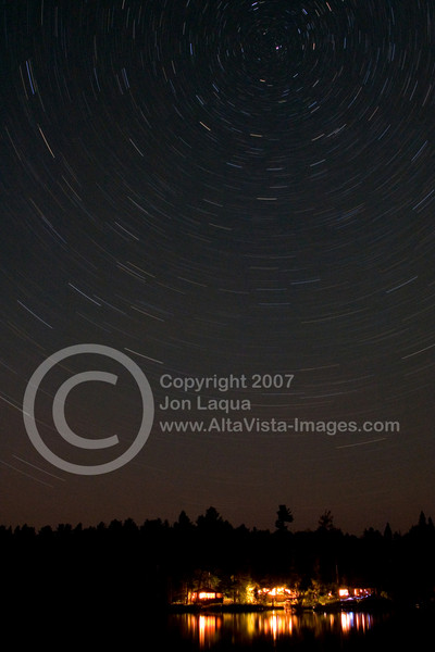 Beneath the Stars.<br /> Twenty miles north of Ely, MN up the Echo Trail.