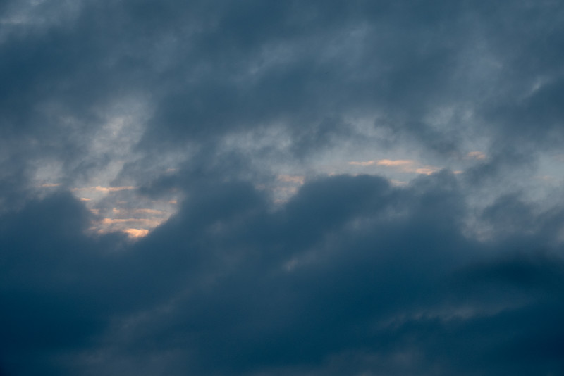 Tiny bit of colour in the sky after sunrise.