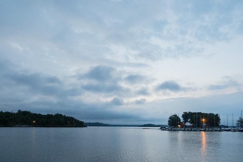 Sky before sunrise over Ramsey Lake.