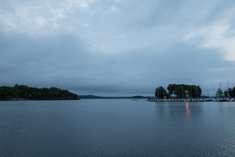 Cloudy sunrise over Ramsey Lake.
