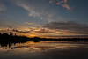 Sky before sunrise at Pearl Lake in Timmins.