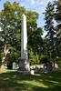 Little Lake Cemetery in Peterborough - Hamilton obelisk