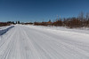 Winter road coming into Fort Albany