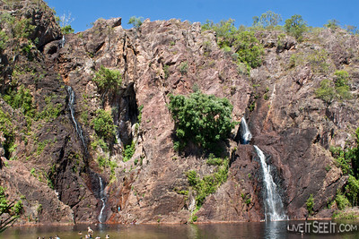 Wangi Falls, a brilliant swimming hole in the Litchfield National Park, Northern Territory