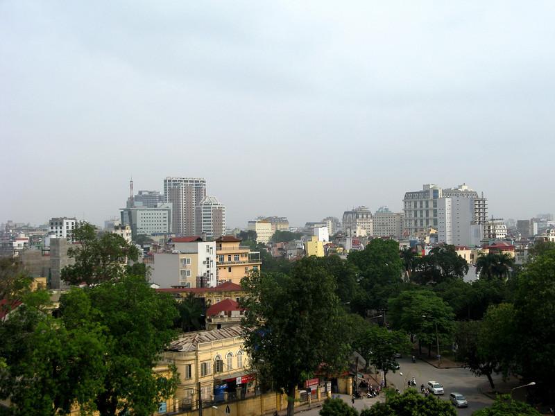 Hanoi skyline from flag tower behind Vietnam Military History Museum