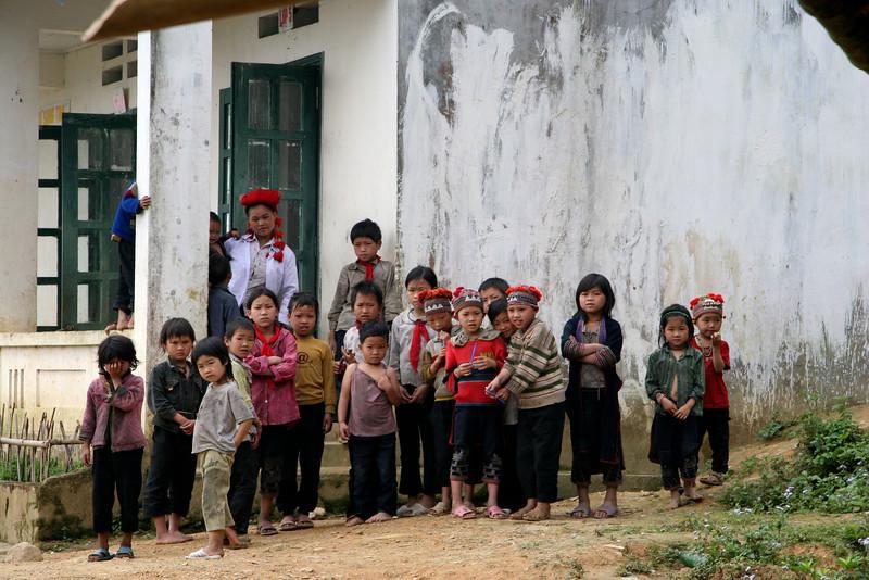 Kids outside Than Kim school