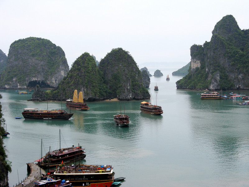 View from Surprise Cave, Halong Bay