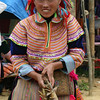Flower Hmong Woman - Can Cau Market