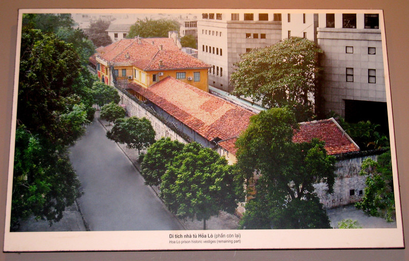 Hoa Lo Prison (remaining part) - photo of a photo, of course