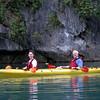 Craig and Jeane kayaking at the Bat Cave