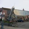 A rocket in downtown Bellingham.