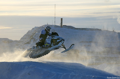Snowmobile jumping competition Kiruna 2011