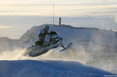 Snowmobile jumping competition Kiruna 2011