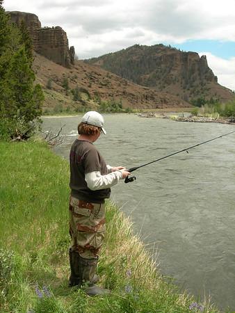 Northfork of Shoshone River Fishing