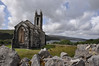 Dunlewey Church of Ireland - Built 1853 of locally quarried white marble and blue quartzite