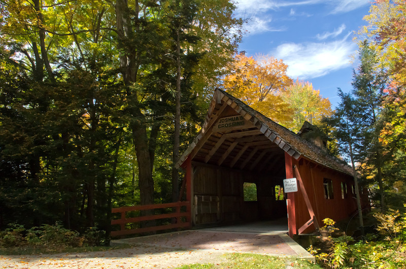 Joshua's Crossing covered bridge, Benzie County, MI