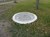 3599 - In 1887 refinements such as this bird bath were added - Fort Laramie National Historic SIte - Wyoming