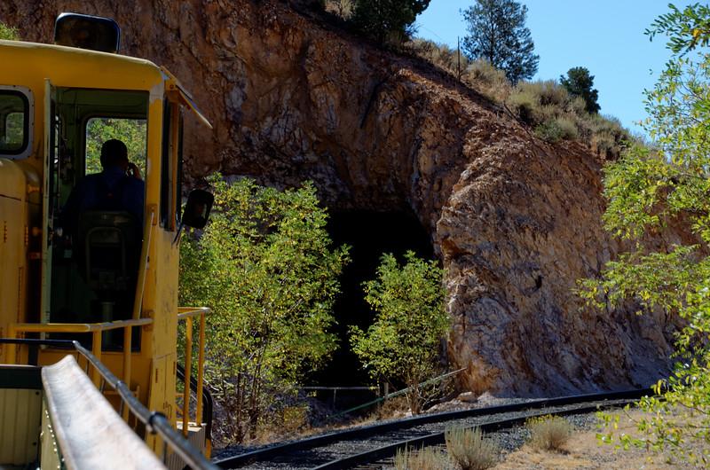 3106 - Into the tunnel - Virginia & Truckee Railroad - Virginia City, Nevada