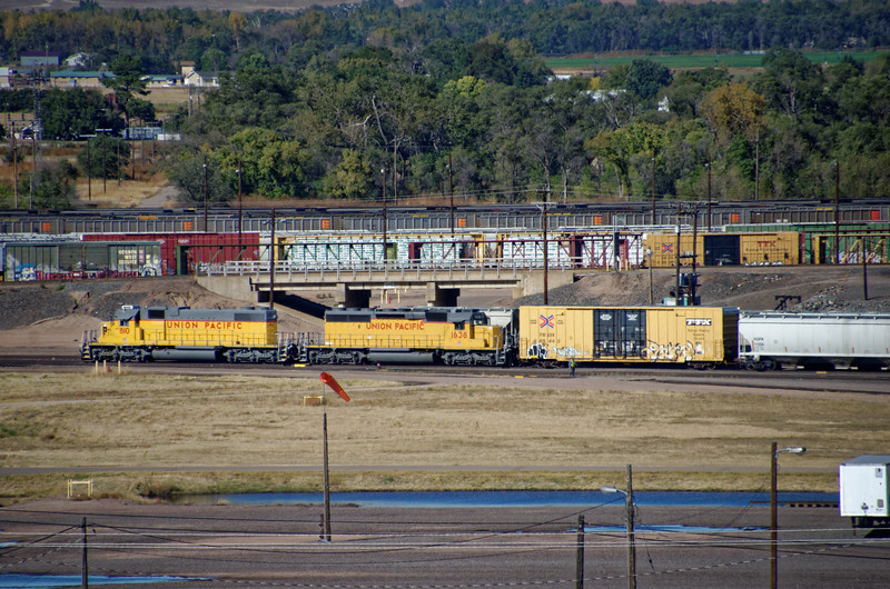 3734 - Golden Spike Tower at Bailey Yard - Largest railroad switch yard in the world - North Platte, NE