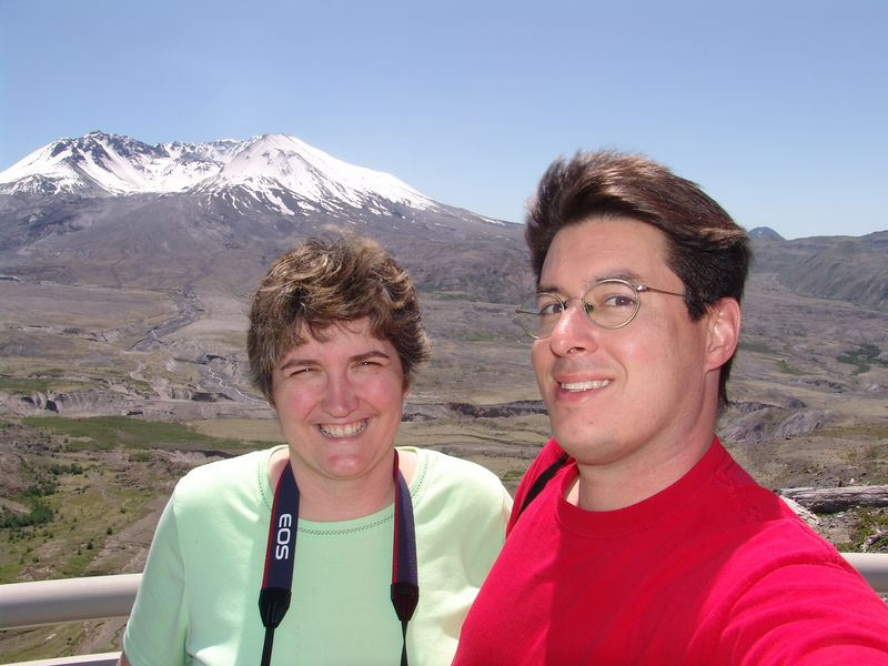 Mount St. Helens.. 25 years to the month after eruption.