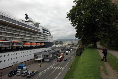 Celebrity Constellation seen from Akershus Fortress in Oslo
