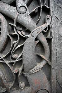 celtic symbols on urne stave chuch