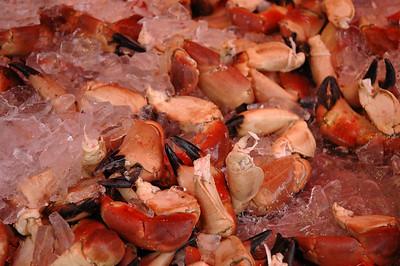 crabs at Bergen fishmarket