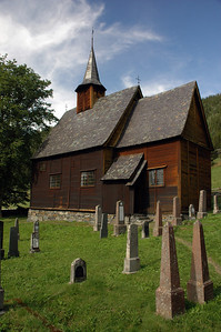 graveyard of stave church in lomen (Norway)