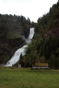 waterfall at huldefossen
