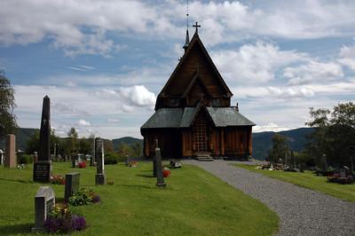 stave church in reinli (Norway)