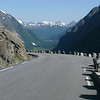 View from the top of the Trollstigen road looking back toward Andalsnes