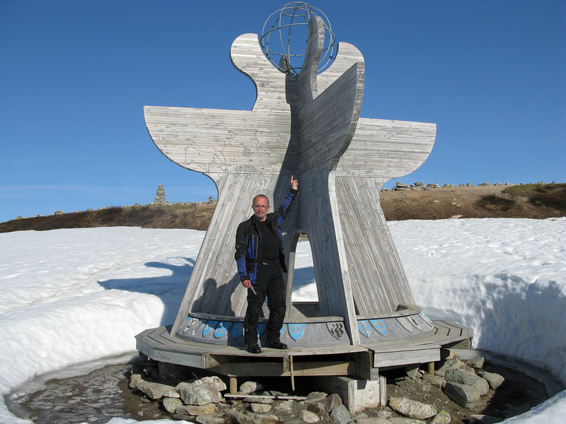 Ugly old me at the Arctic Circle