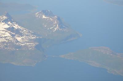 The flight from Oslo to Tromsø