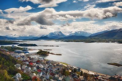 Alesund, Norway, looking east.