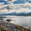 Alesund, Norway, looking east.