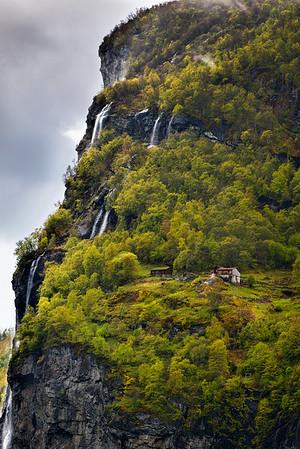 HIllside farm on a major waterfall