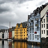 Alesund, downtown canal