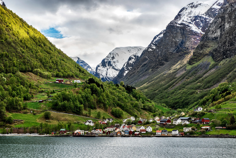 Fjord side village, Flam