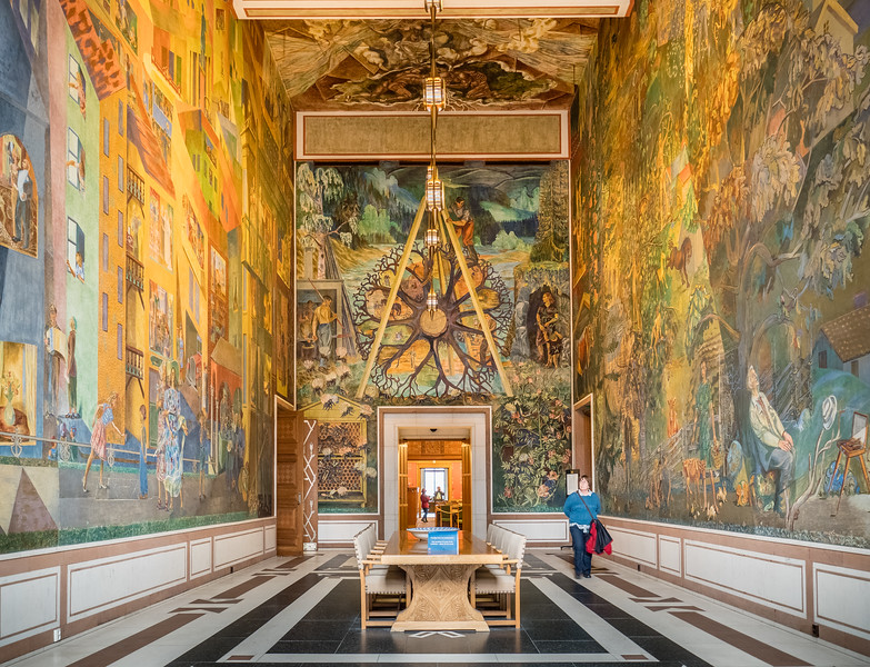 The City and it's Environs Frescoes by Per Krohg, Oslo City Hall (1950)